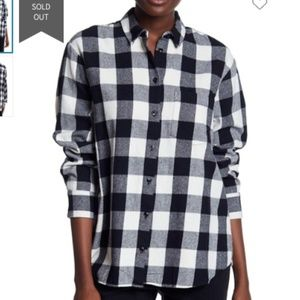 Madewell Oversized Flannel Long Sleeve Shirt